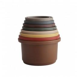 Mushie - Stacking cups  retro