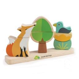 Tender leaf toys - stapelaar magnetische vos