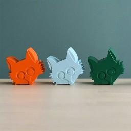 Blafre - snackdoosje Fox dark green