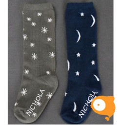Kids Clara - Nichola Northern Sky Knee Socks Navy