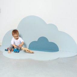 Quut - Speelmat Head in the clouds -  Large Dusty Blue