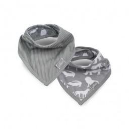 Jollein - slab bandana Safari stone grey ( 2 pack )