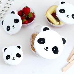 A Little Lovely Company - Snack box set van 4 - Panda
