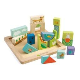 Tender leaf toys - Blokkenpuzzel tuin