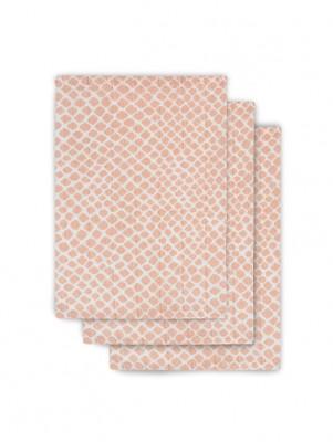 Jollein - Hydrofiel washandje Snake pale pink (3 pack)