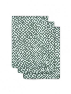 Jollein - hydrofiel washandje snake ash green (3 pack)