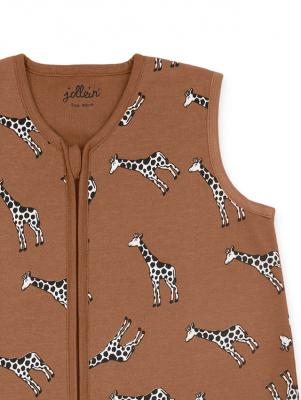 Jollein - Slaapzak zomer 90cm Giraffe caramel