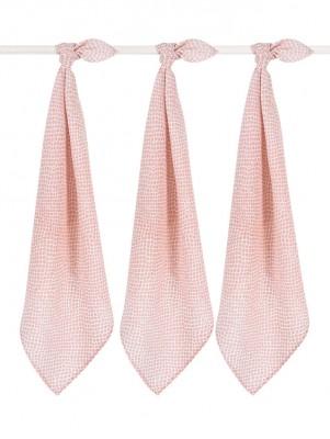 Jollein - hydrofiel multidoek small snake pale pink - 70x70 cm (3 pack)