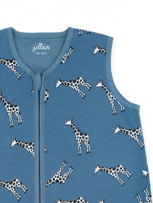 Jollein - Slaapzak zomer 90cm Giraffe jeans blue
