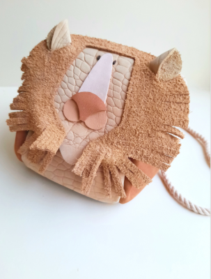 Atelier Ovive - Lion bag nude/rust