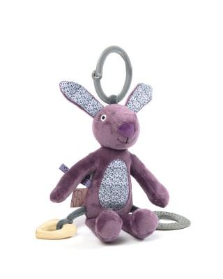 Smallstuff - activiteitenknuffel konijn paars