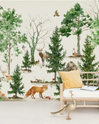 Creative Lab Amsterdam - Forest Life Behang Mural