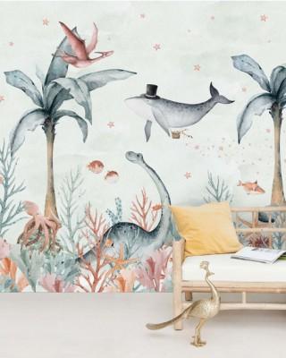 Creative Lab Amsterdam - Flying Whale Behang Mural