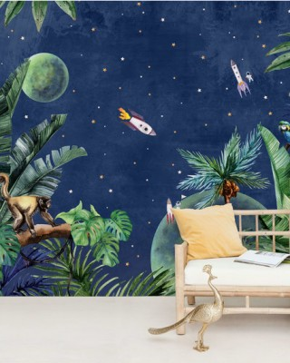 Creative Lab Amsterdam - From Jungle to Space Behang Mural