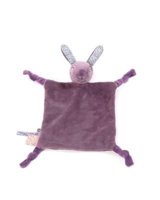 Smallstuff - knuffeldoekje konijn paars