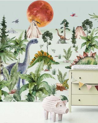 Creative Lab Amsterdam - Dino by Moonlight Behang Mural