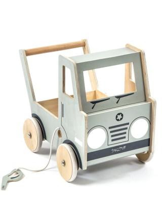 Smallstuff - houten loopwagen vrachtwagen