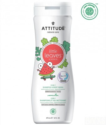 Attitude - Little Leaves 2in1 shampoo & body wash Watermeloen Cocos