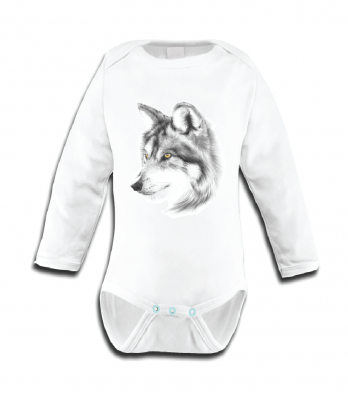 Miss princess and little frog - Body longsleeve tencel wolf