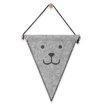 Jollein - Vlag 25 x 30 cm felt Bear grey