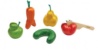 PlanToys - Kromme groenten set