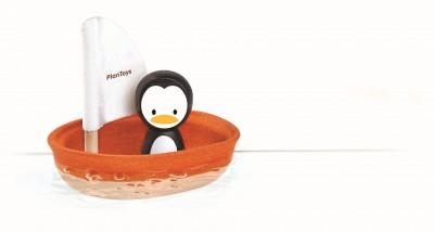 PlanToys - Zeilboot pinguïn