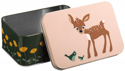 Blafre  - rectangular box dear peach green