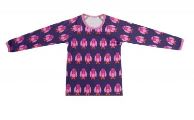 Mini Cirkus - Penguin purple longsleeve