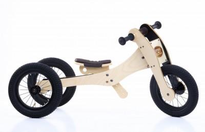 Trybike - wood brown 4 in 1 loopfiets