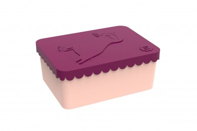 Blafre - lunchbox HDPE puffin plum red