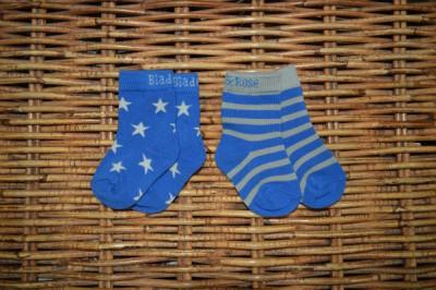 Blade&Rose - Sokjes blauwe sterren jongens (2 paar)