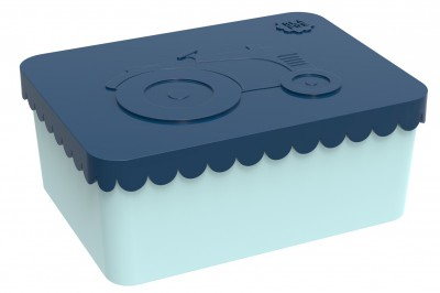 Blafre - lunchbox HDPE tractor dark blue