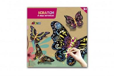 Avenir - scratch art- magische vlinders