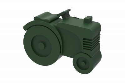 Blafre - lunchbox tractor dark green