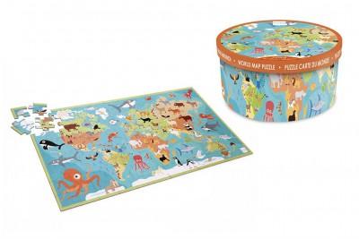 Scratch - Puzzel dieren van de wereld