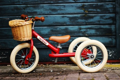 Trybike - steel 2 in 1 loopfiets vintage red