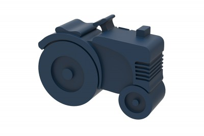 Blafre - lunchbox tractor dark blue