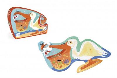 Scratch - contour puzzel pelikaan - 24 pcs