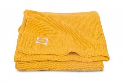 Jollein - deken basic knit ocher 100x150cm