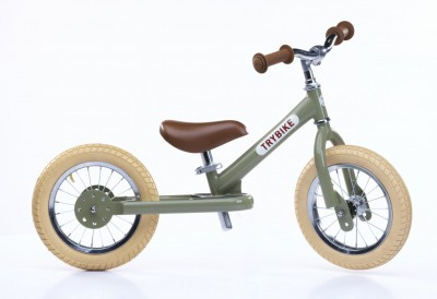 Trybike - steel loopfiets vintage green