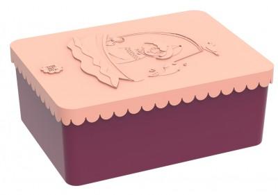 Blafre - lunchbox HDPE coast plum red/peach