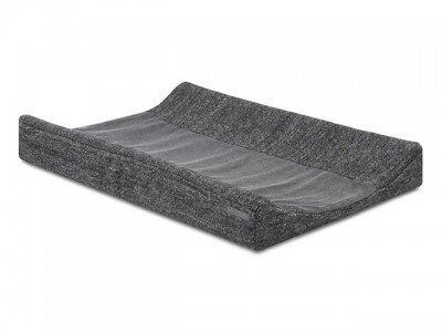 Jollein - waskussenhoes 50x70cm Natural knit antracite