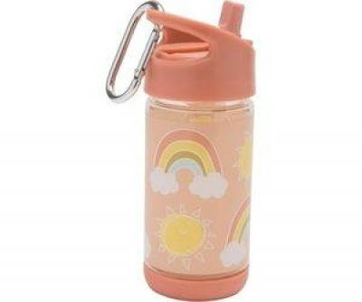 Sugarbooger - Flip & Sip clear Tritan drinking bottle rainbows