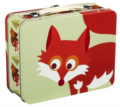 Blafre - tin suitcase fox light green