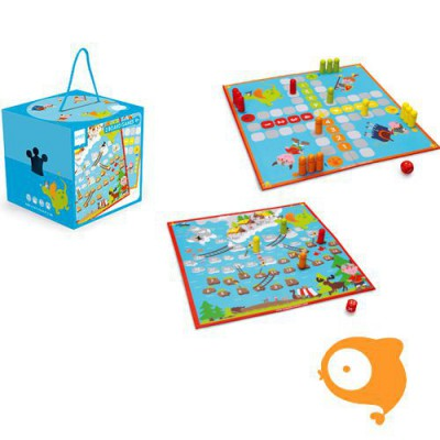 Scratch - 2 bordspellen viking / ladders en zwaarden