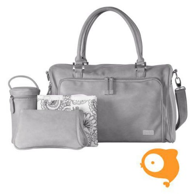 Isoki - Verzorgingstas double zip satchel portsea grey