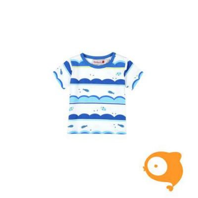 Boboli - T-shirt wit/blauw visjes