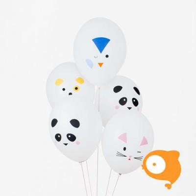 My little day - Ballonnen dieren - set van 5