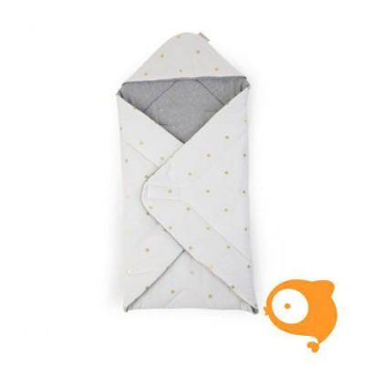 Childhome - Babywrapper uni 75x75cm gold dots
