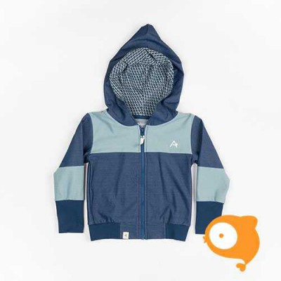 Albababy - Aslan zipper hood - Estate Blue